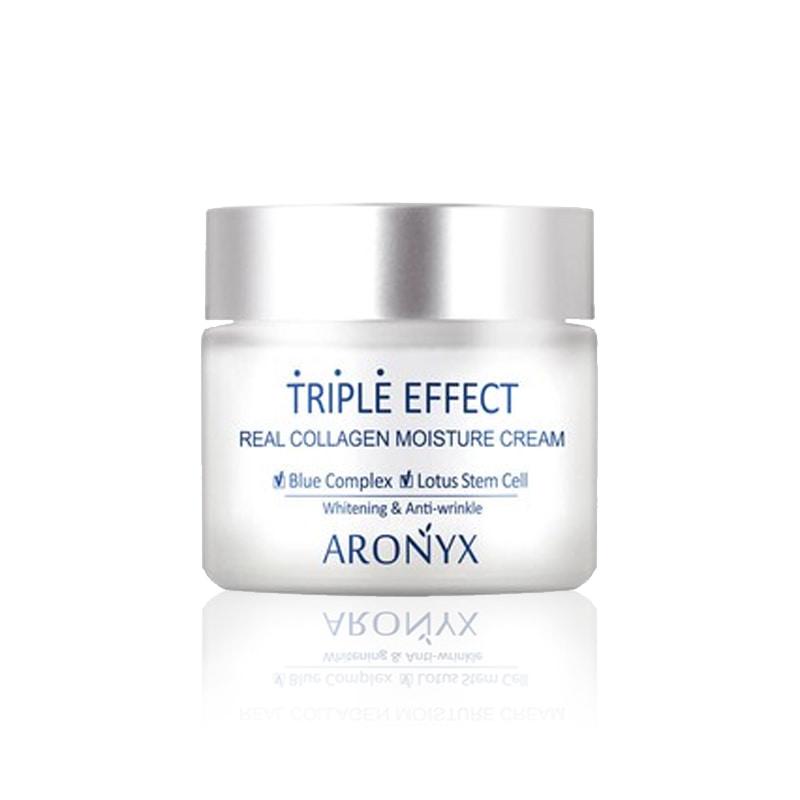 Own label brand, [MEDI FLOWER] Aronyx Triple Effect Real Collagen Moisture Cream 50ml  (Weight : 162g)