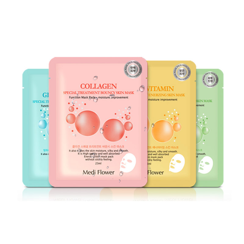 Own label brand, [MEDI FLOWER] Special Treatment Skin Mask 23ml * 1pcs 4 types  (Weight : 32g)