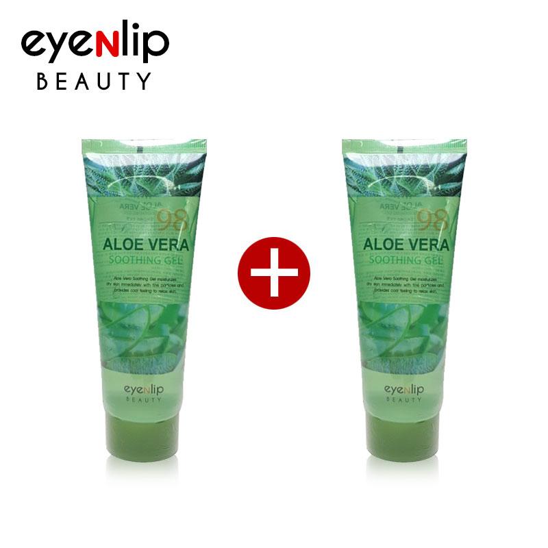 Own label brand, [EYENLIP] [1+1] Aloe Vera Soothing Gel 115ml Size Up (Weight : 273g)