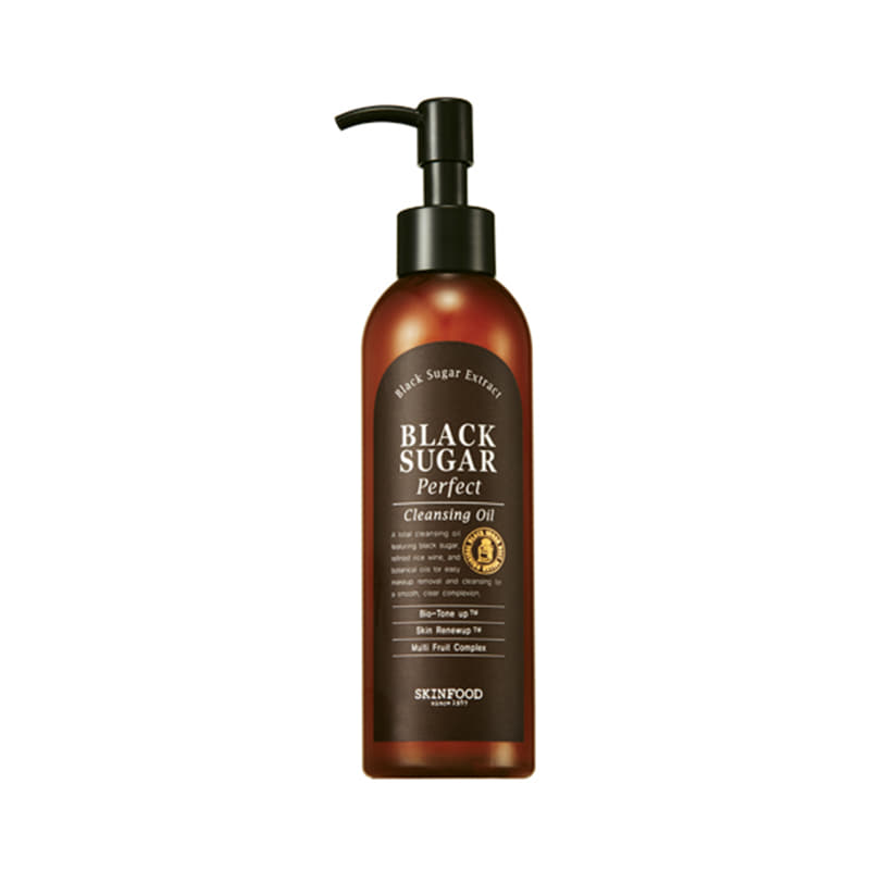 Own label brand, [SKINFOOD] Black Sugar Perfect Cleansing Oil 200ml (Weight : 237g)