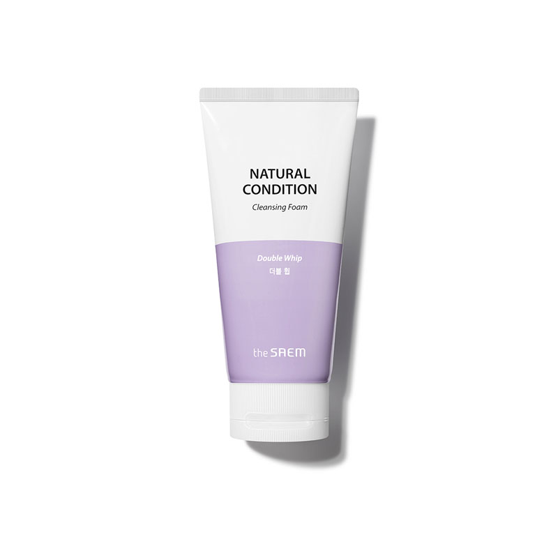 Own label brand, [THE SAEM] Natural Condition Cleansing Foam [Double Whip] 150ml (Weight : 191g)