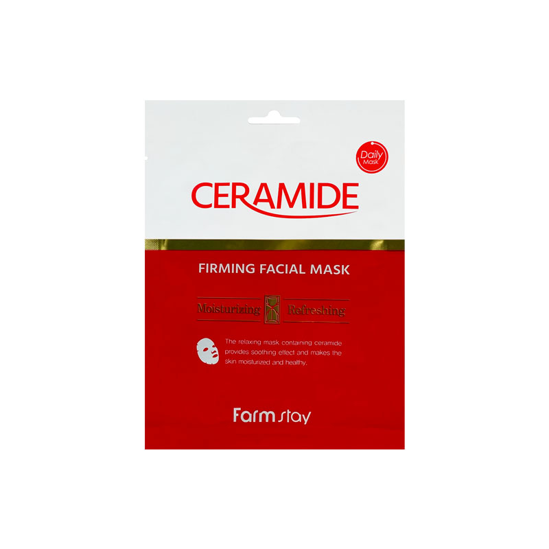 Own label brand, [FARM STAY] Ceramide Firming Facial Mask 27g 1p (Weight : 36g)