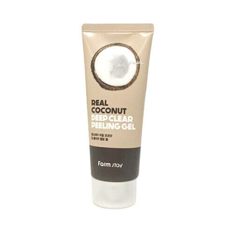 Own label brand, [FARM STAY] Real Coconut Deep Clear Peeling Gel 100ml (Weight : 129g)