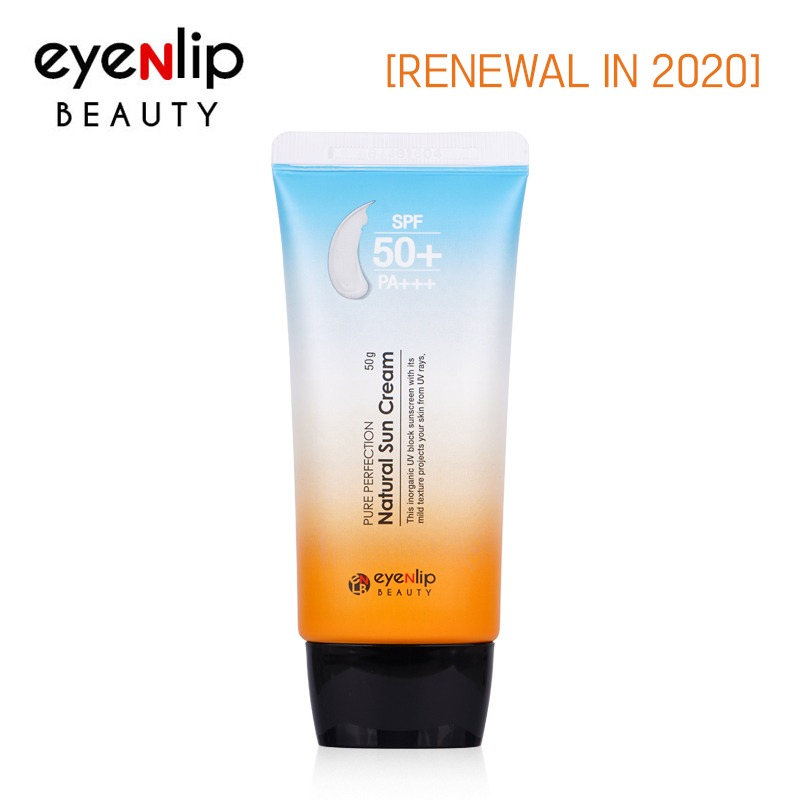 Own label brand, [EYENLIP] Pure Perfection Natural Sun Cream (SPF50+/PA+++) 50g Renewal in 2020  (Weight : 66g)