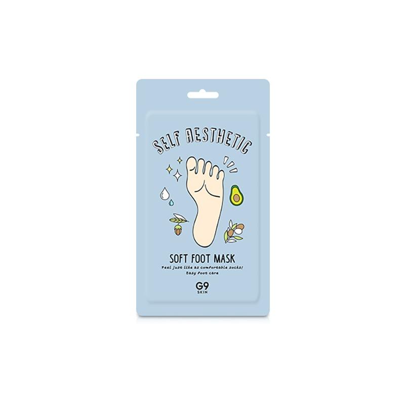 [G9SKIN] Self Aesthetic Soft Foot Mask 12ml (6ml*2ea) (Weight : 29g)