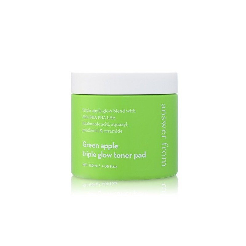 Own label brand, [ANSWER FROM] Green Apple Triple Glow Toner Pad 60pads (Weight : 229g)