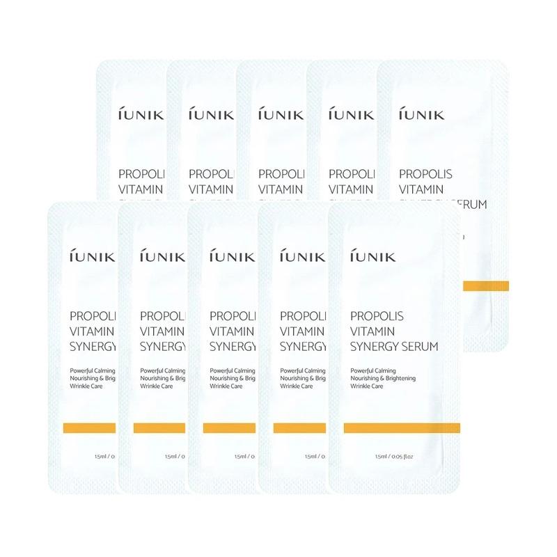 Own label brand, [IUNIK] Propolis Vitamin Synergy Serum 2ml * 10pcs [Sample] (Weight : 26g)