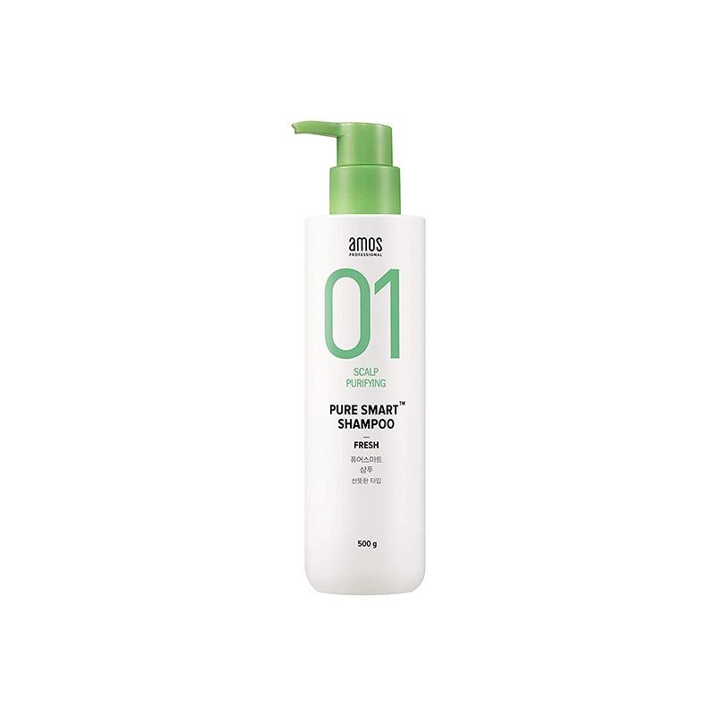 Own label brand, [AMOS] Pure Smart Shampoo 500ml [Fresh] (Weight : 630g)