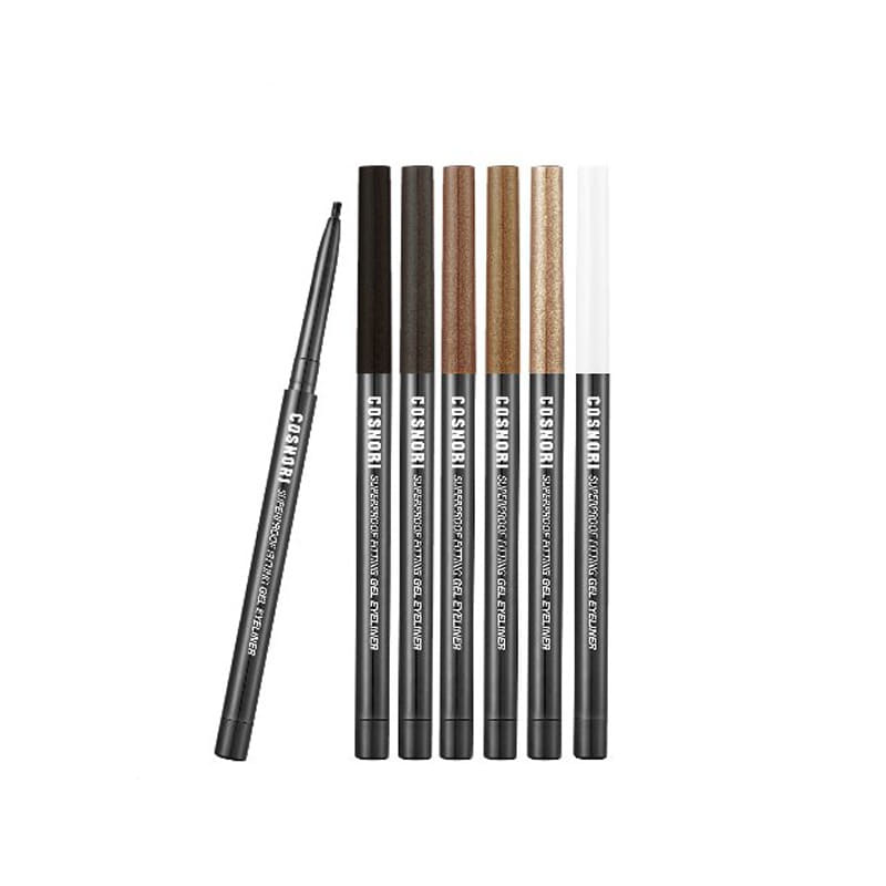 Own label brand, [COSNORI] Super Proof Fitting Gel Eye Liner 0.13g 6 Color (Weight : 7g)