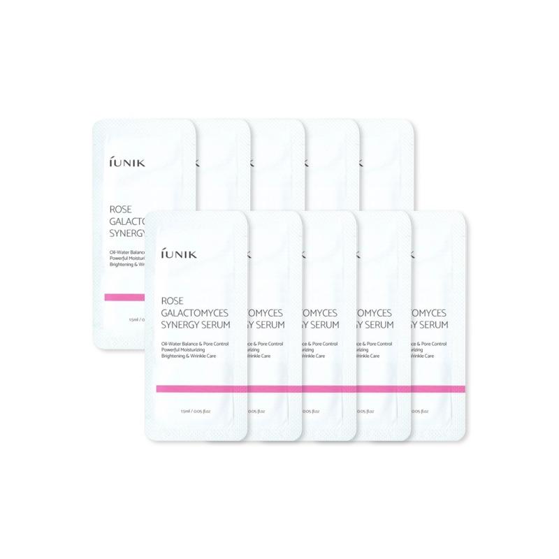 Own label brand, [IUNIK] Rose Galactomyces Synergy Serum 2ml * 10pcs [Sample] (Weight : 27g)