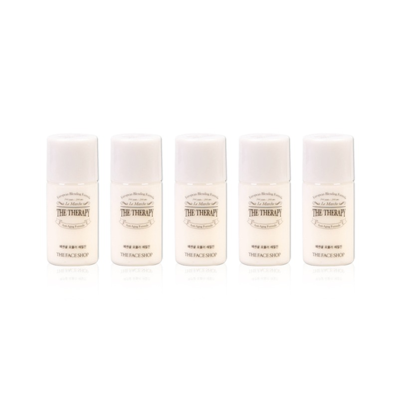 Own label brand, [THE FACE SHOP] The Therapy Essential Emulsion 5ml * 5pcs [Sample] (Weight : 53g)