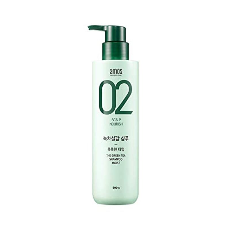 Own label brand, [AMOS] The Greentea Shampoo 500ml [Moist] (Weight : 630g)