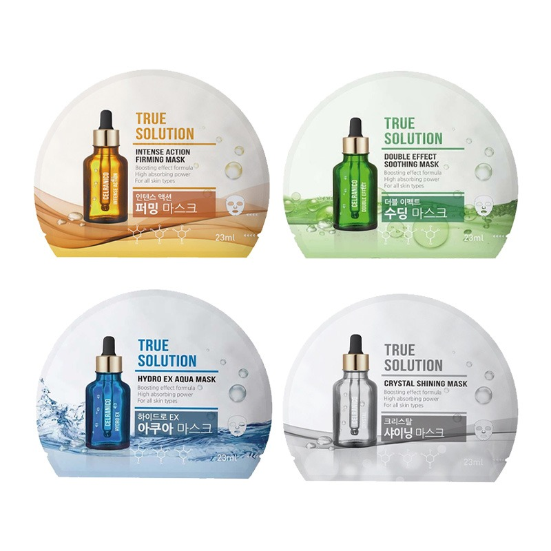Own label brand, [CELRANICO] True Solution Mask Sheet 23ml*1pcs 4 Type (Weight : 32g)