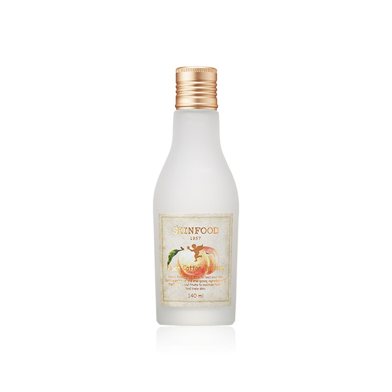Own label brand, [SKINFOOD] Peach Cotton Emulsion 140ml (Weight : 231g)