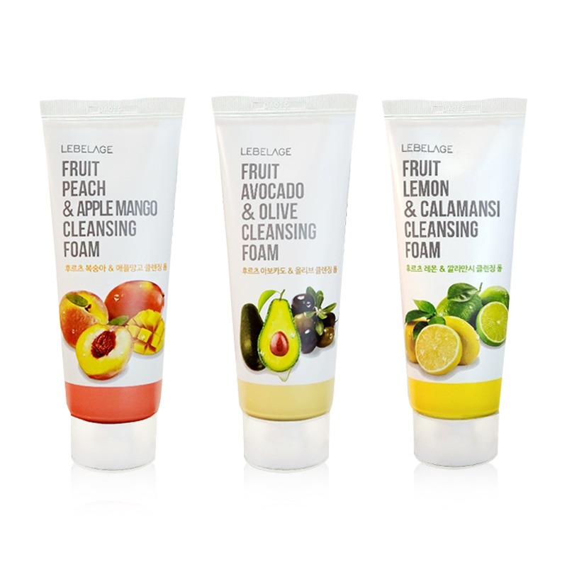 Own label brand, [LEBELAGE] Fruit Cleansing Foam 100ml 3 Type (Weight : 124g)