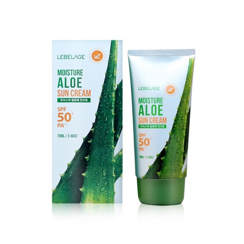 Own label brand, [LEBELAGE] Moisture Aloe Sun Cream (SPF50+/PA+++) 70ml (Weight : 103g)