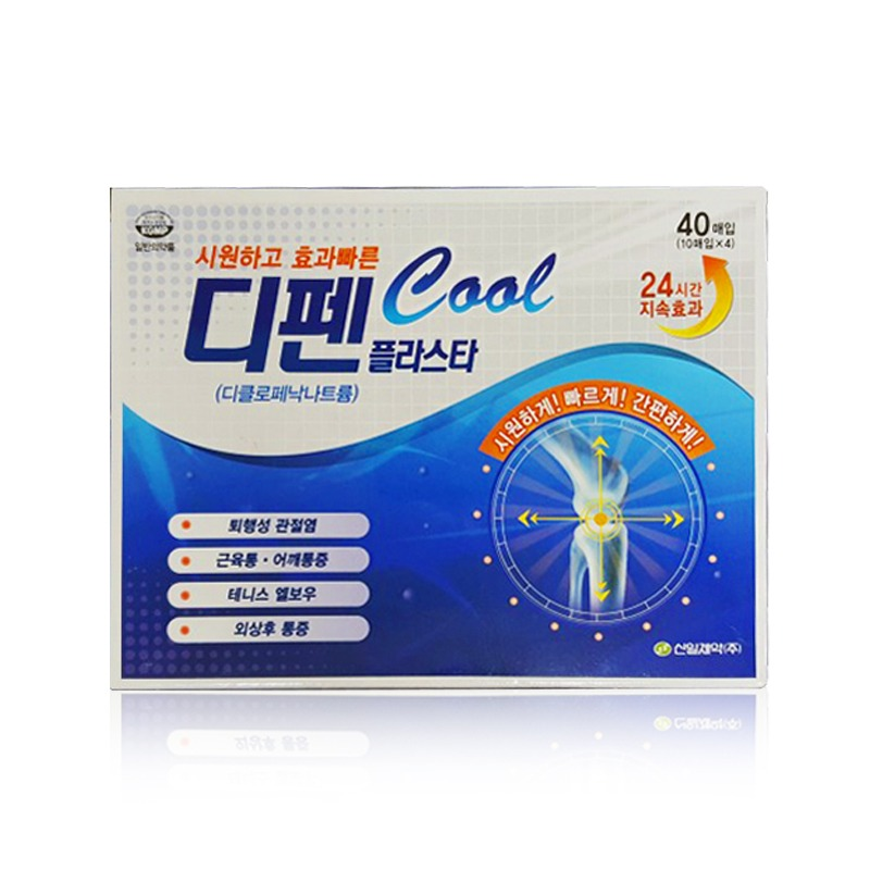Own label brand, [SINIL] Difen Plaster Cool Pain Relief Patch (10patches * 4ea) (Weight : 147g)