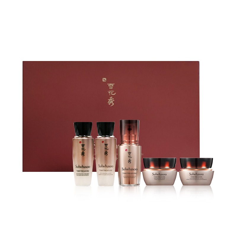 Own label brand, [SULWHASOO] Timetreasure Ultimate Anti-Aging Kit (5 Items) [sample] (Weight : 242g)