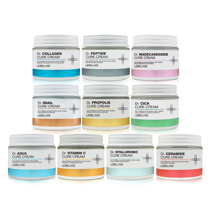 Own label brand, [LEBELAGE] Dr. Cure Cream 70ml 10 Type (Weight : 223g)