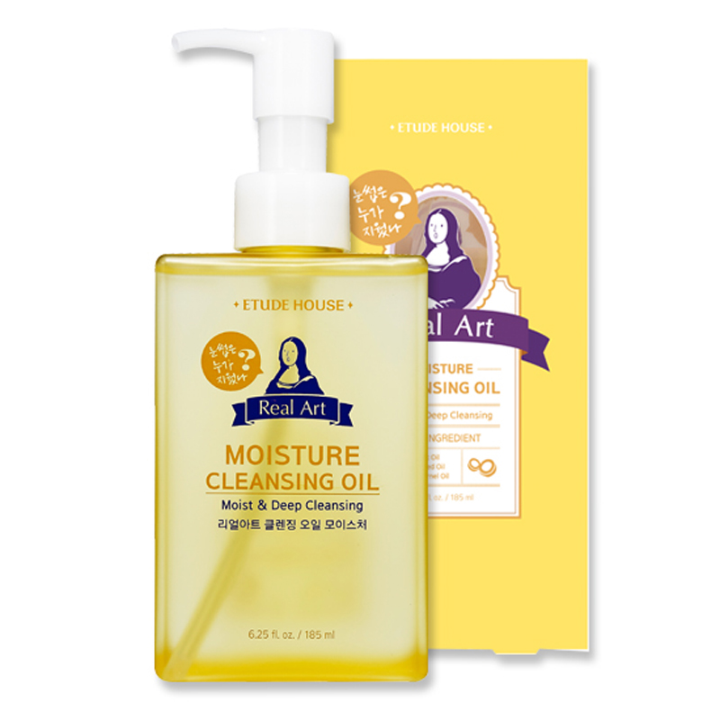 Own label brand, [ETUDE HOUSE] NEW Real Art Cleansing Oil 185ml #Moisture (Weight : 282g)