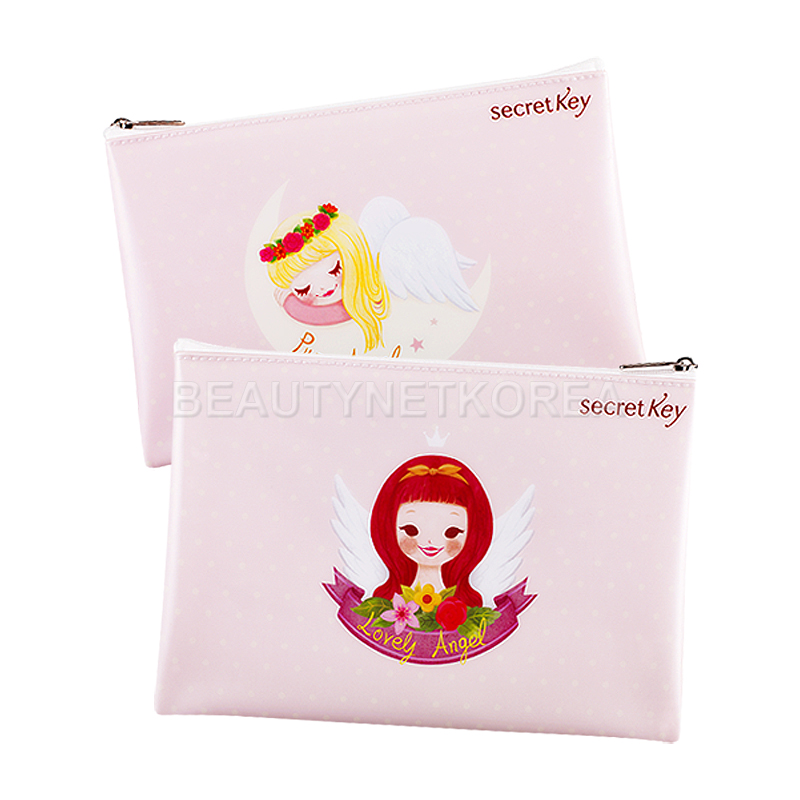 Own label brand, [SECRET KEY] Angel Pouch / Storage for various items / Cosmetic pouch (Weight : 43g)
