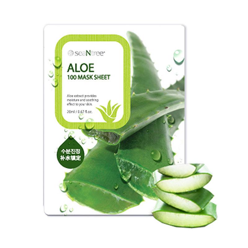Own label brand, [SEANTREE] Aloe 100 Mask Sheet 20ml (Weight : 27g)