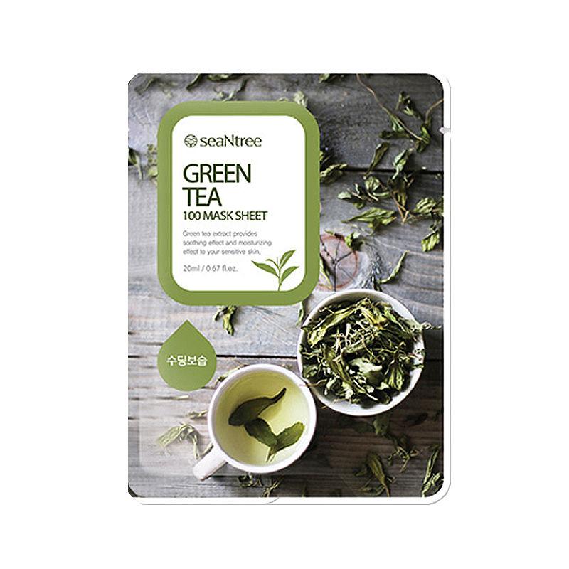 Own label brand, [SEANTREE] Green Tea 100 Mask Sheet 20ml (Weight : 27g)