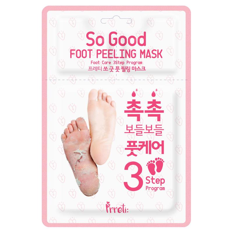 Own label brand, [PRRETI] So Good Foot Peeling Mask 3-Step Program 1pair (Weight : 72g)