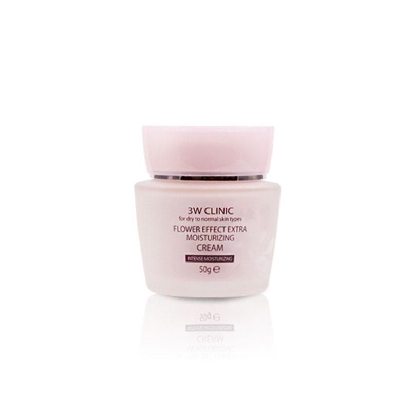 Own label brand, [3W CLINIC] Flower Effect Extra Moisturizing Cream 50g(Weight : 222g)