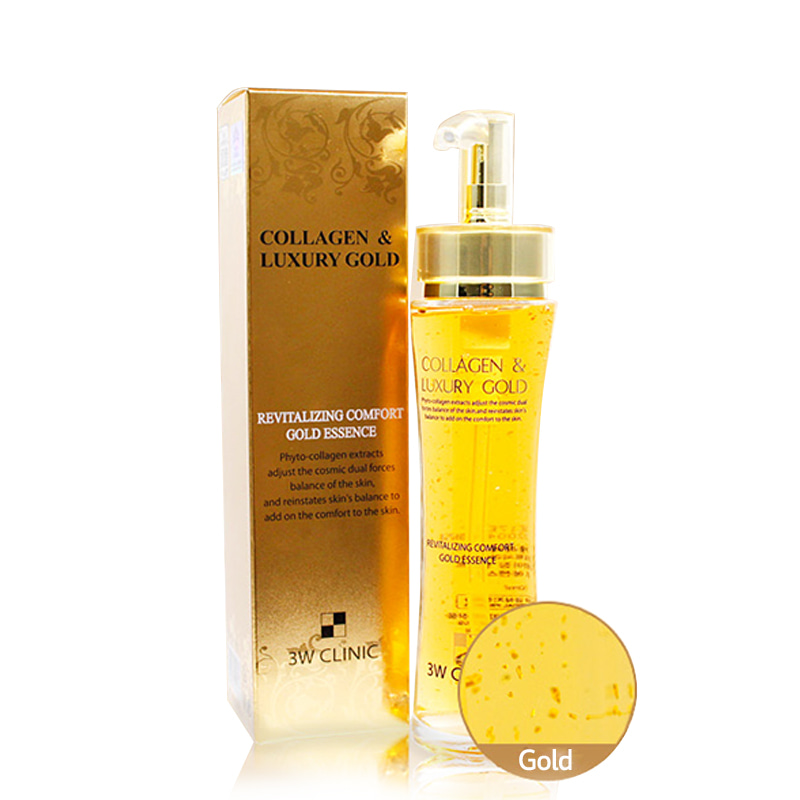 Own label brand, [3W CLINIC] Collagen & Luxury Gold Revitalizing Comfort Gold Essence 150ml (Weight : 421g)