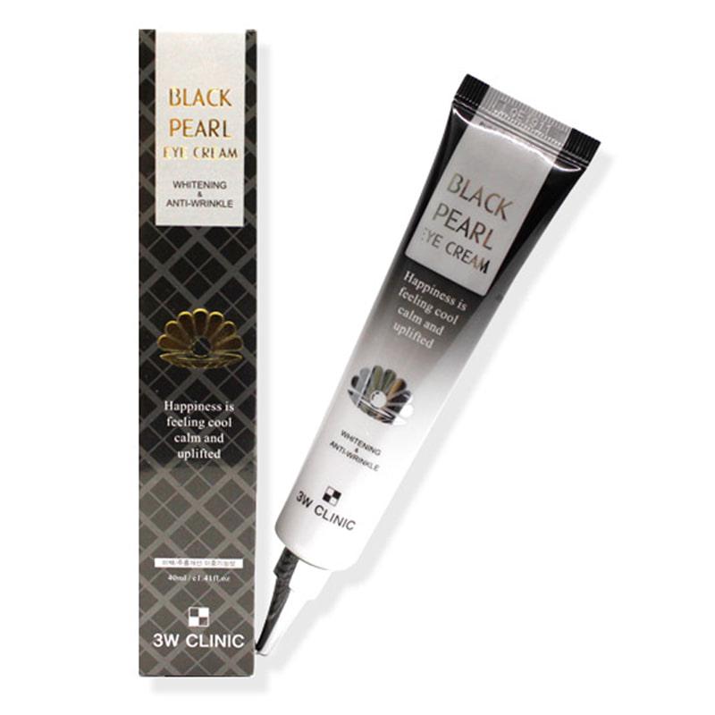 Own label brand, [3W CLINIC] Black Pearl Eye Cream 40ml (Weight : 60g)