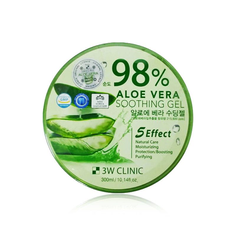 Own label brand, [3W CLINIC] Aloe Vera Soothing Gel (Purity 98%) 300g(Weight : 392g)