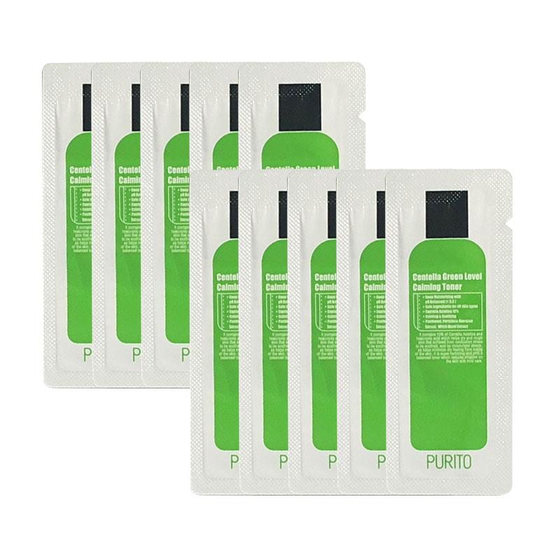 Own label brand, [PURITO] Centella Green Level Calming Toner * 10pcs [Sample] (Weight : 21g)