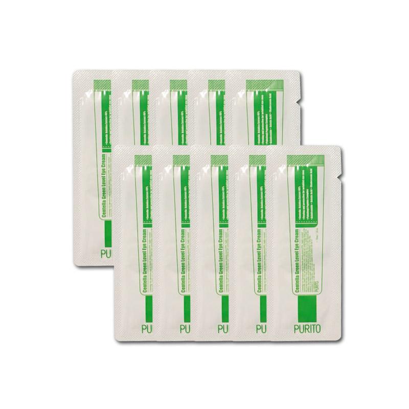 Own label brand, [PURITO] Centella Green Level Eye Cream * 10pcs [Sample] (Weight : 16g)