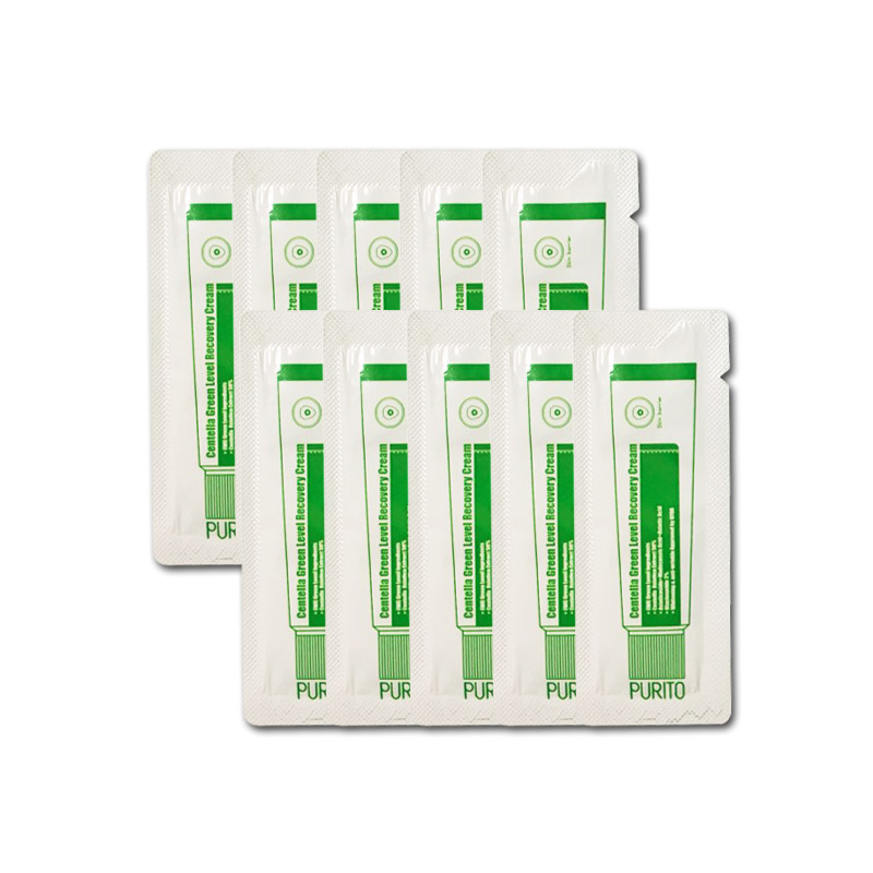 Own label brand, [PURITO] Centella Green Level Recovery Cream * 10pcs [Sample] (Weight : 20g)