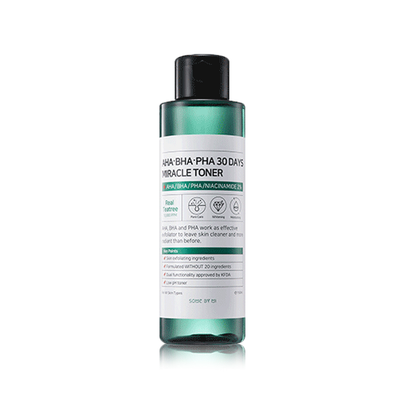 Own label brand, [SOME BY MI] AHA,BHA,PHA 30 Days Miracle Toner 150ml (Weight : 210g)