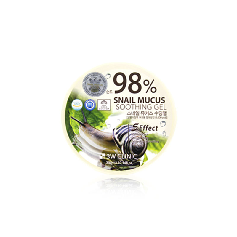 Own label brand, [3W CLINIC] Snail Mucus Soothing Gel (purity 98%) 300g(Weight : 386g)