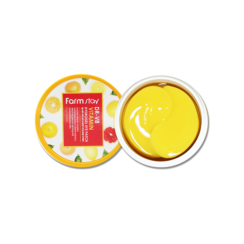 Own label brand, [FARM STAY] Dr-V8 Vitamin Hydrogel Eye Patch 90g / 60Sheets (Weight : 200g)