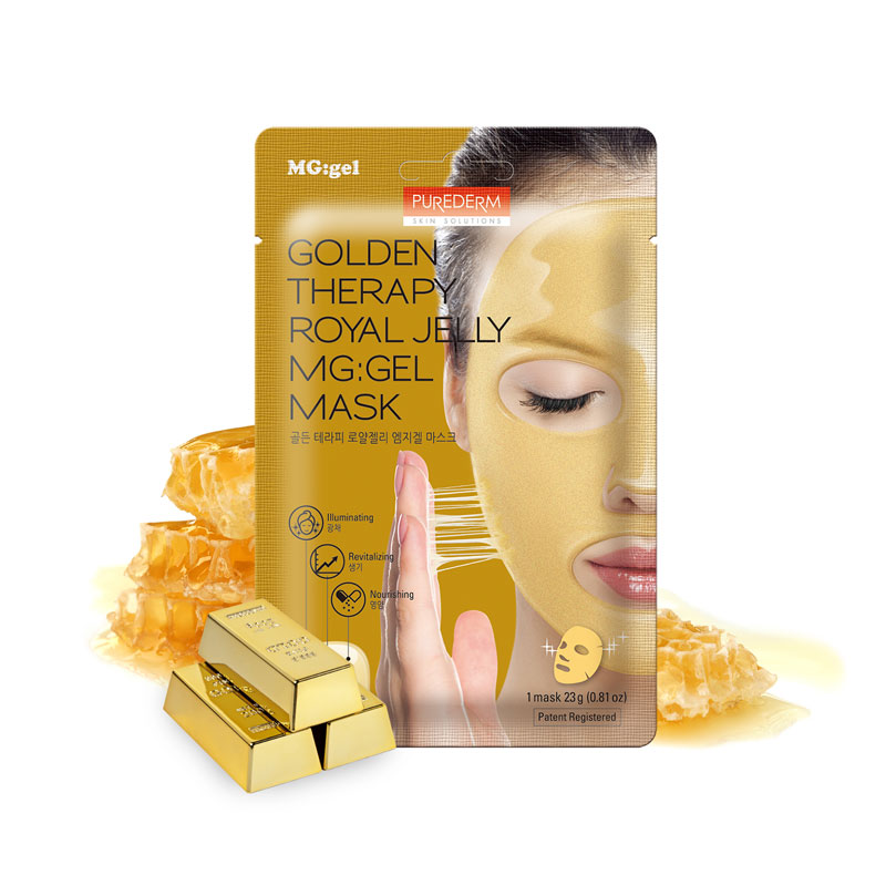 Own label brand, [PUREDERM] Golden Therapy Royal Jelly MG:Gel Mask 23g * 1pcs (Weight : 39g)