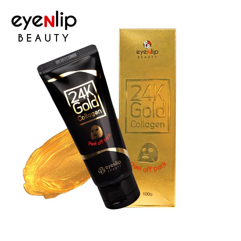 Own label brand, [EYENLIP] 24K Gold Collagen Peel off Pack 100g (Weight : 142g)