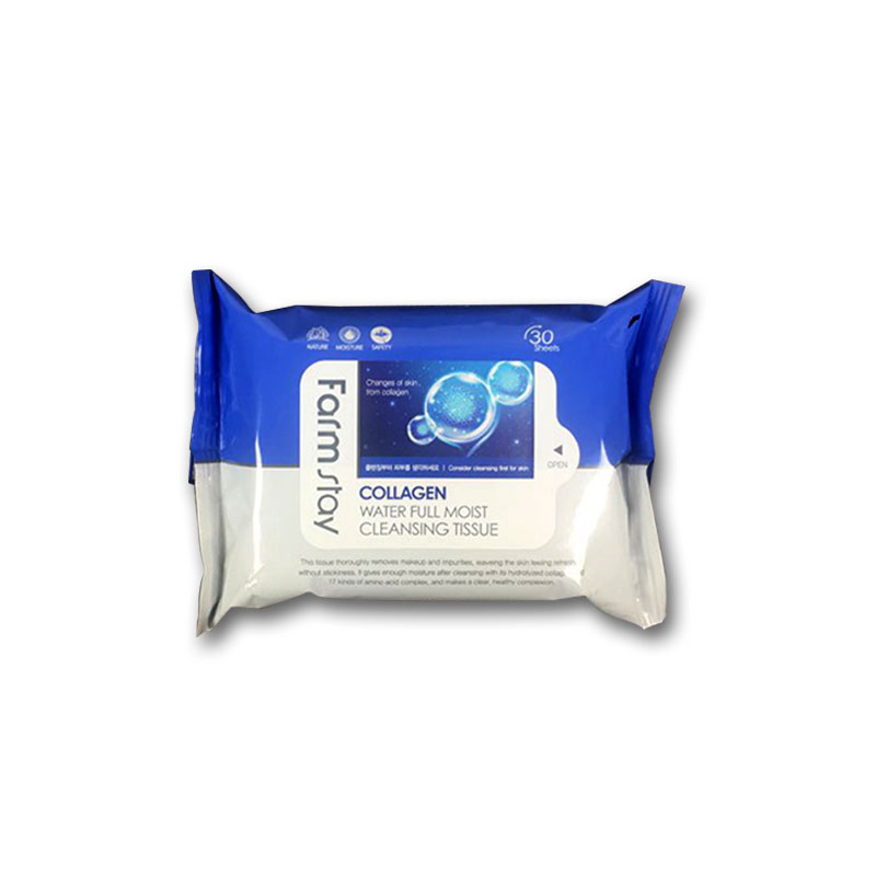 Own label brand, [FARM STAY] Collagen Water Full Moist Cleansing Tissue (30 Sheets) (Weight : 168g)