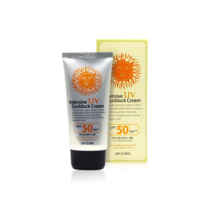 Own label brand, [3W CLINIC] Intensive UV Sunblock Cream 70ml (Weight : 99g)