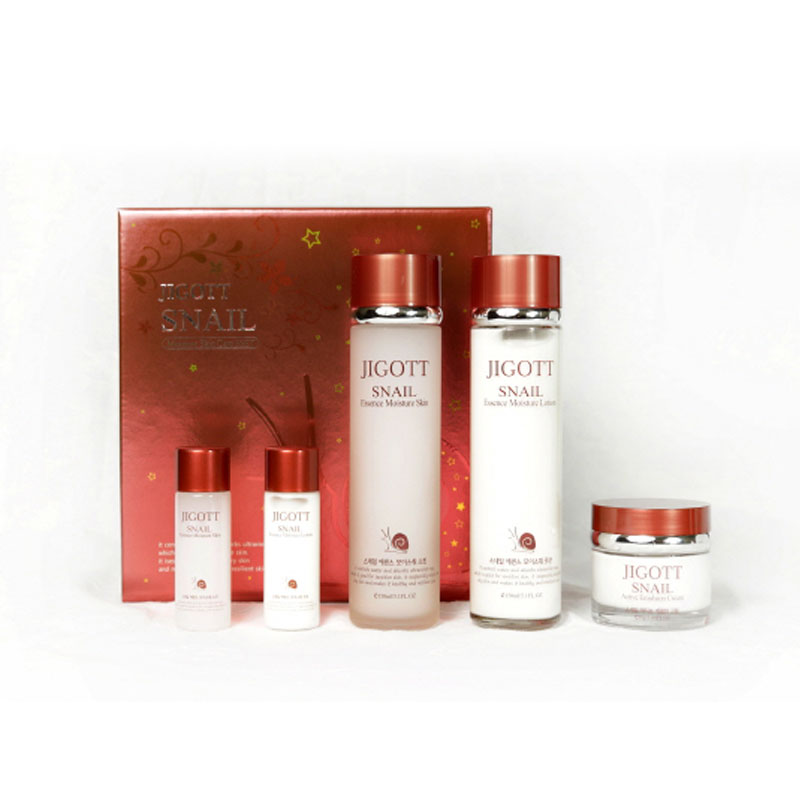 Own label brand, [JIGOTT] Snail Moisture Skin Care 3 Set (Weight : 1241g)