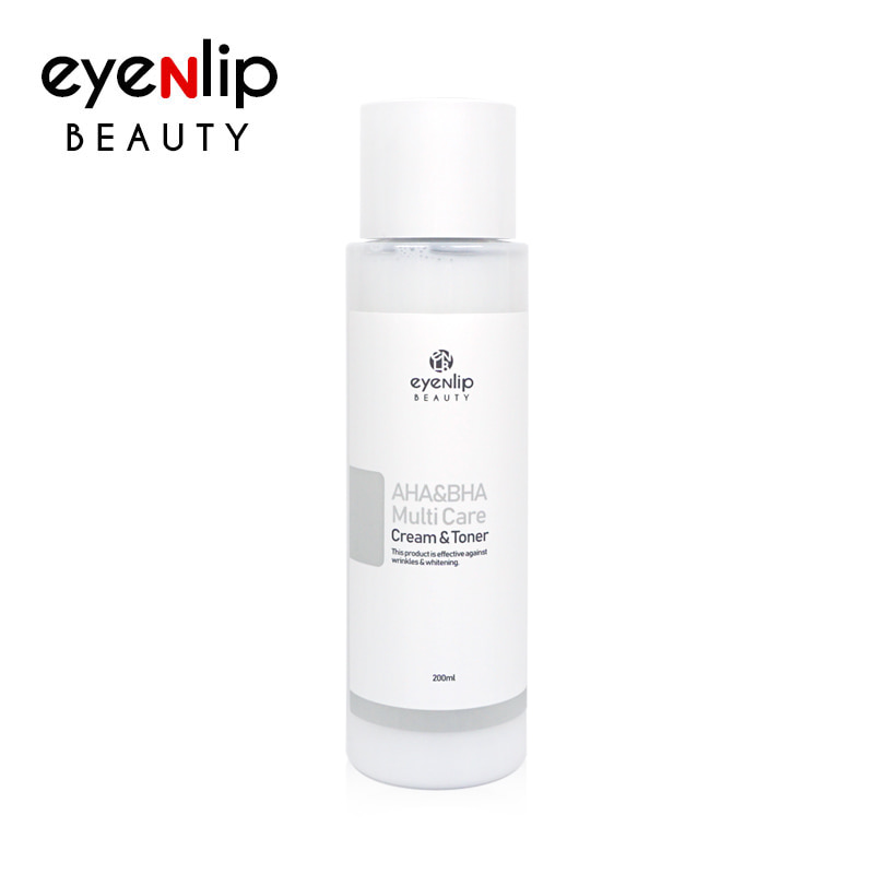 Own label brand, [EYENLIP] AHA&BHA Multi Care Cream & Toner 200ml (Weight : 297g)