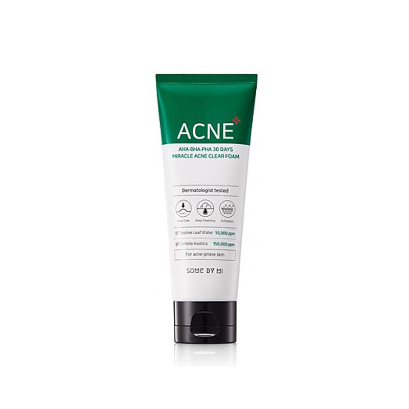 Own label brand, [SOME BY MI] AHA/BHA/PHA 30 Days Miracle Acne Clear Foam 100ml (Weight : 138g)