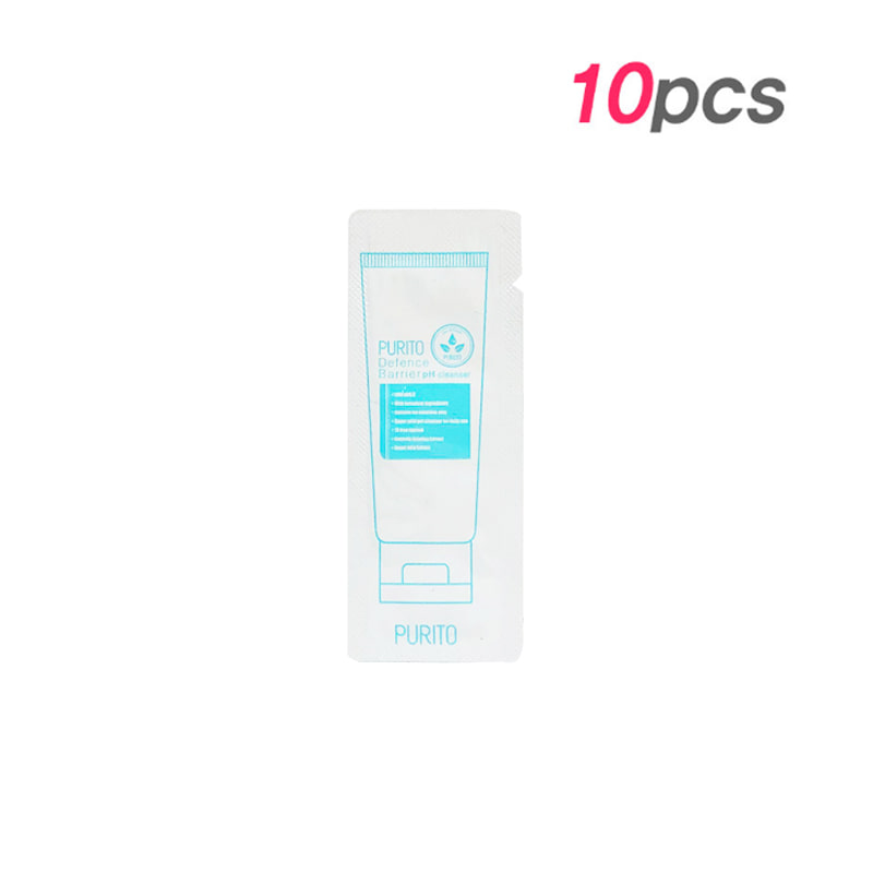 Own label brand, [PURITO] Defence Barrier pH Cleanser 1.2 * 10pcs [Sample] (Weight : 18g)