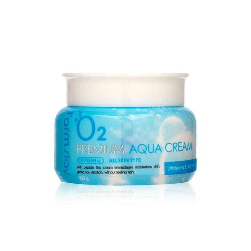 Own label brand, [FARM STAY] O2 Premium Aqua Cream 100g (Weight : 200g)