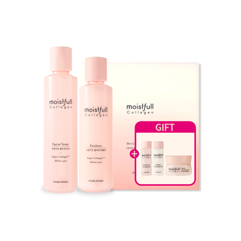 Own label brand, [ETUDE HOUSE] Moistfull Collagen Skin Care Set (2 Kinds) [Renewal in 2019] (Weight : 827g)