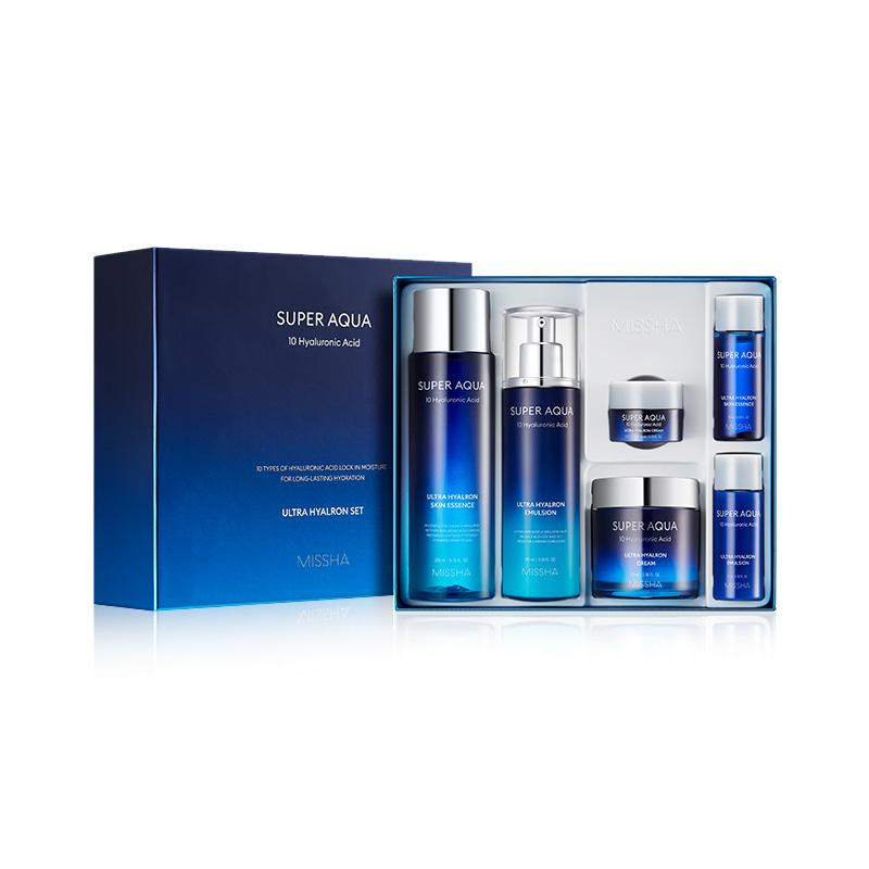 Own label brand, [MISSHA] Super Aqua Ultra Hyalron Set [3 Items] (Weight : 1047g)