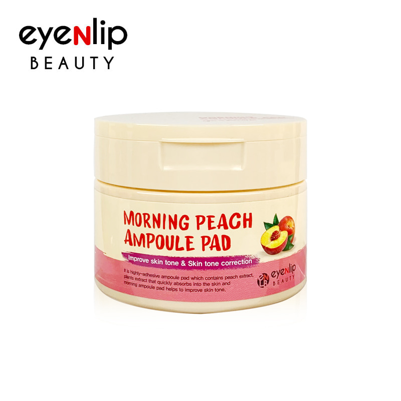 Own label brand, [EYENLIP] Morning Peach Ampoule Pad 120ml / 100 Pads (Weight : 235g)